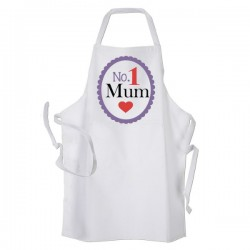 Number 1 Mum Personalised Apron. BBQ, Cooking