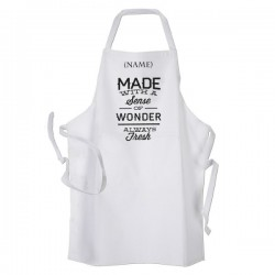 Made With A Sense Of Wonder Style Personalised Apron.