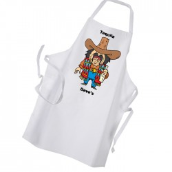 Tequila Mexican Comic Style Personalised Apron.