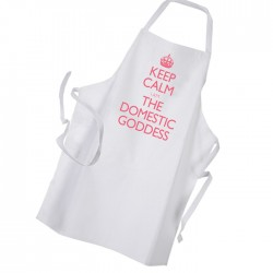 Keep Calm I Am The Domestic Goddess Personalised Apron.