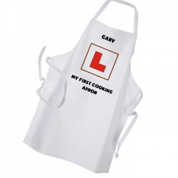 Learner Cook Comic Style Personalised Apron.