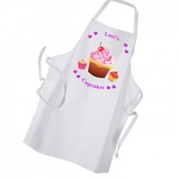 Three Cupcake Design, Heart Personalised Apron.