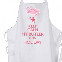 Keep Calm The Butler's On Holiday Personalised Apron.