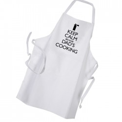 Keep Calm Dad's Cooking Personalised Apron.