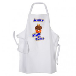 Men's Cup Cake King With Crown Design Personalised Apron.