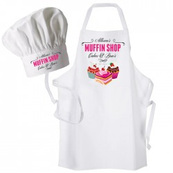 Muffin Shop, Personalised Apron. Ladies Fun Chef Kitchen Cooking Dinner, Christmas Gift