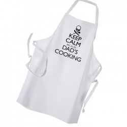 Keep Calm Dad's Cooking Skull Personalised Apron Black Or White