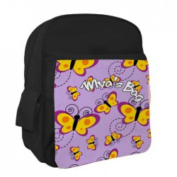 Butterfly Personalised Kids Back-Pack, Ruck Sack. Great For pre-School or school. In Pink, Black or Red