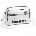 Gymnastics Men's  Personalised Retro Sports Bag. Black With White Or White With Black Colours.