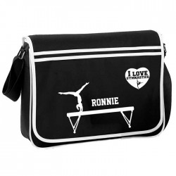 Gymnastics Personalised Gift Messenger / School / Sleepover Bag.