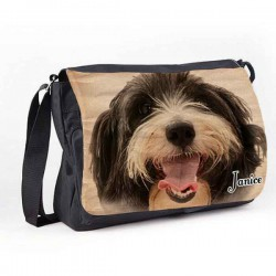 Great looking Cockapoo Design Dog Personalised Gift Messenger / School / Sleepover Bag.