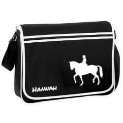 Horse Equestrian Dressage Personalised Gift Messenger / School / Sleepover Bag.