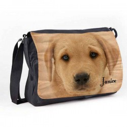 Labrador Design Dog Great looking Personalised Gift Messenger / School / Sleepover Bag.