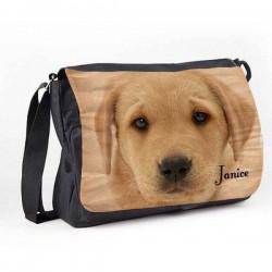 Labrador Design Dog Great looking Personalised Gift Messenger / School / Sleepover Bag.