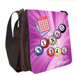 Bingo Bag Personalised Gift Handbag, Small Messenger, School, Sleepover Bag.