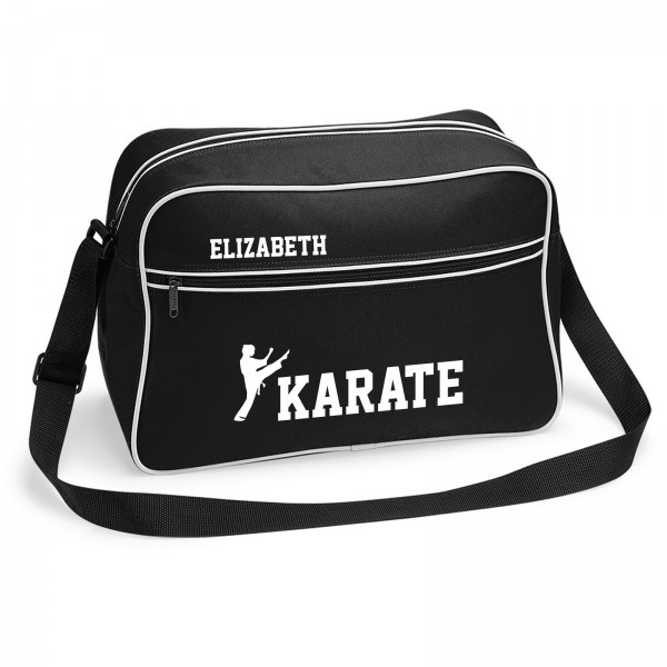 Personalised Ladies Karate Sports Bag. Black or White Available Colours.