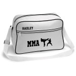 Personalised MMA / Karate Sports Bag. Black With White Or White With Black.
