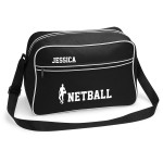 Personalised Netball Sports Bag. Great Kit Bag Available In Black or White