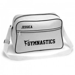 Girls Gymnastics Personalised Sports Bag. Black With White Or White With Black Colours.