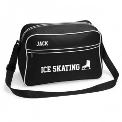 Ice Skating Retro Sports Bag. Black With White Or White With Black Colours.