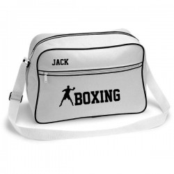 Boxing Retro Sports Bag. Black With White Or White With Black Colours.