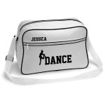 Dance Retro Sports Bag. Black With White Or White With Black Colours.