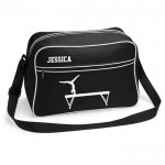 Girls Personalised Gymnastics Retro Sports Bag. Black With White Or White With Black Colours.