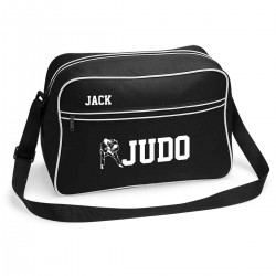 Judo Personalised Retro Sports Bag. Black With White Or White With Black.