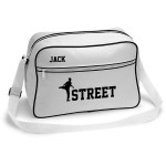 Street Dance Retro Sports Bag. Black With White Or White With Black Colours.