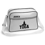 Yoga Retro Sports Bag. Black With White Or White With Black Colours.