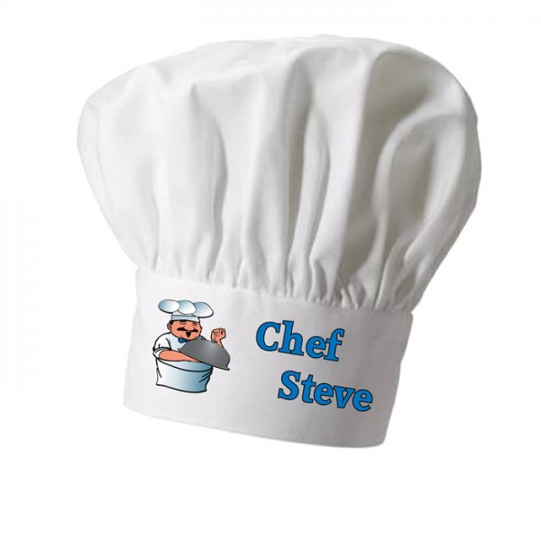 Cooking Chef Character, Kitchen, Grill Personalised Chef Hat