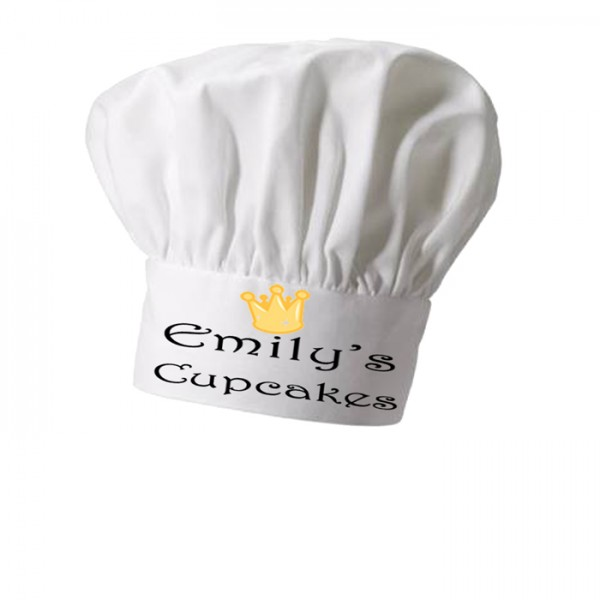Cup Cake Queen, Personalised Chef Hat
