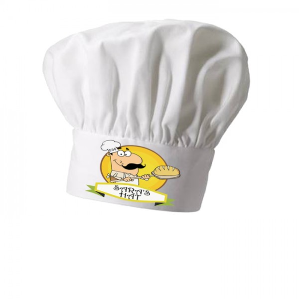 Baker Personalised Chef Hat. Great Christmas Stocking Filler