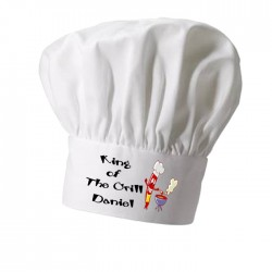 King Of The Grill, Personalised Chef Hat. Great Christmas Stocking Filler