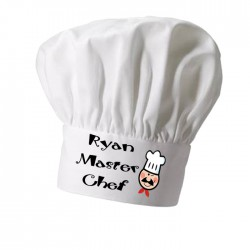 Master Chef, Cooking Personalised Chef Hat. Christmas Gift, Present