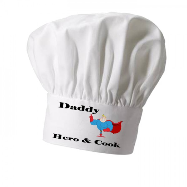 Daddy Super Chef Personalised Chef Hat. Great Christmas Stocking Filler