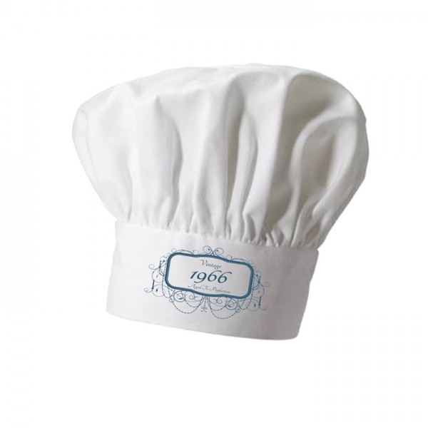 Vintage Birthday Personalised Chef Hat. Great Christmas Stocking Filler