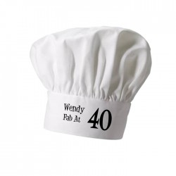 Birthday Age, Cooking Personalised Chef Hat. Christmas Gift, Present