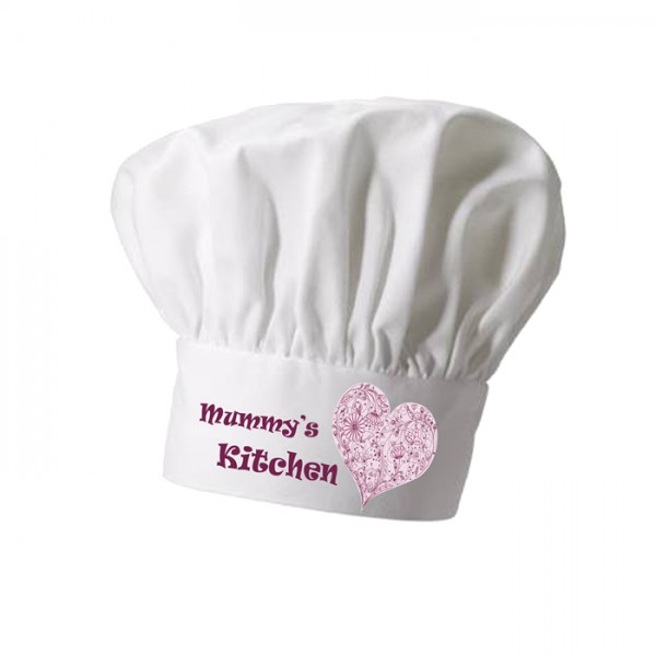 Kitchen Heart, Cooking Personalised Chef Hat. Christmas Gift, Present