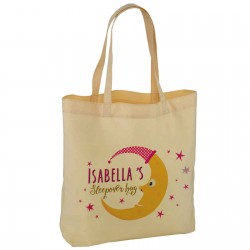 Personalised Sleep Over Bag, Colourful Man In The Moon design Nice Practical bag Available in two sizes.