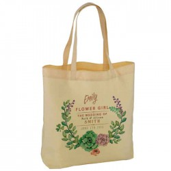 Personalised Water Colour Wedding Favour Cotton Tote Bag Wedding Party . Available in two sizes.