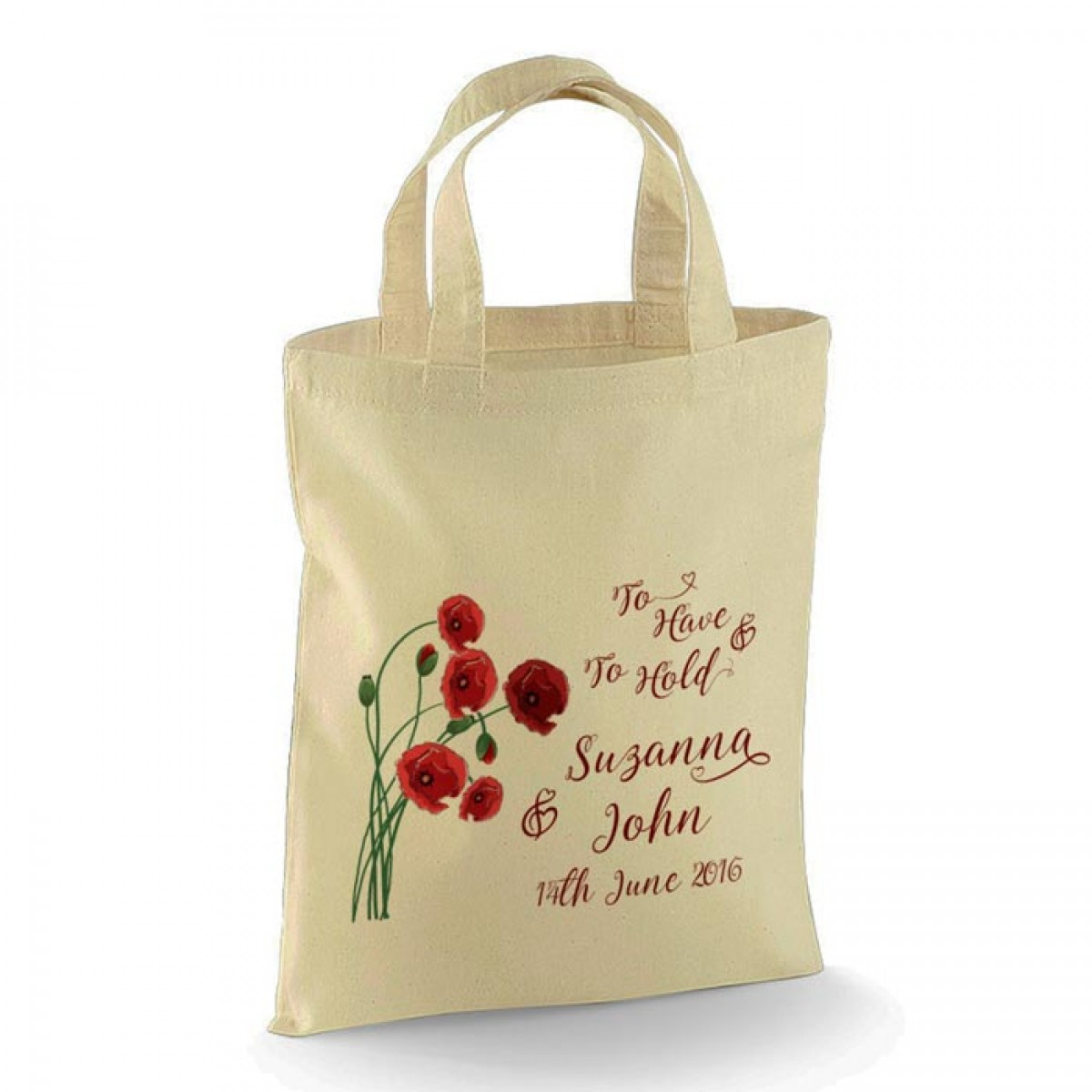 Poppy Design Personalised Wedding Favour Cotton Tote Bag Wedding ...