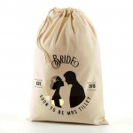 Personalised Wedding favour Natural Cotton Drawstring Stuff Bag, Nice Gift for your wedding party. Change any text to personalise.