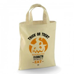 Personalised Halloween Trick or Treat  Cotton Tote Bag. For your Little Monsters to carry all those goodies this Halloween