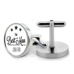 Personalised Wedding Gift Chrome Cuff links. Gift Boxed perfect gift for All of your wedding guests.