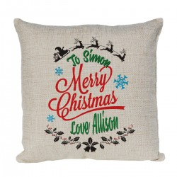 Personalised cushion. With A Nice Christmas design Christmas Gift for a special person