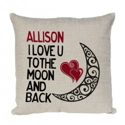 Love You To The Moon & Back Personalised Cushion