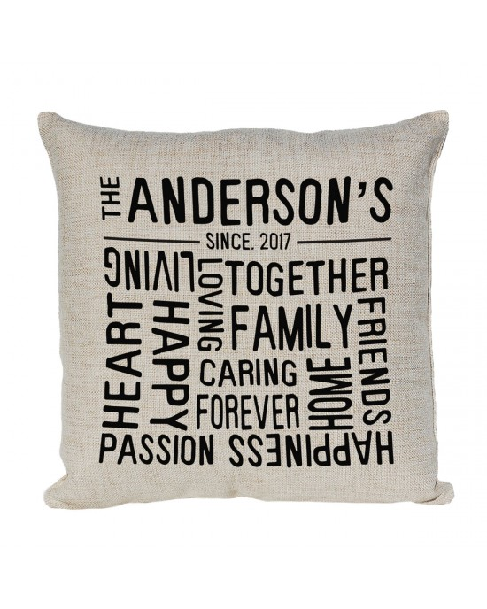 Personalised Family Cushion. The Perfect gift for that Happy Family.