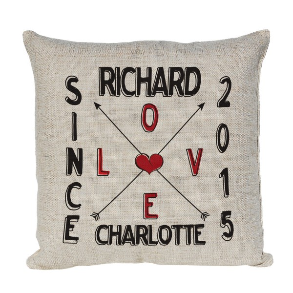 Personalised Cushion In Love Since. Couples Gift, Wedding Gift and Presents for Couples