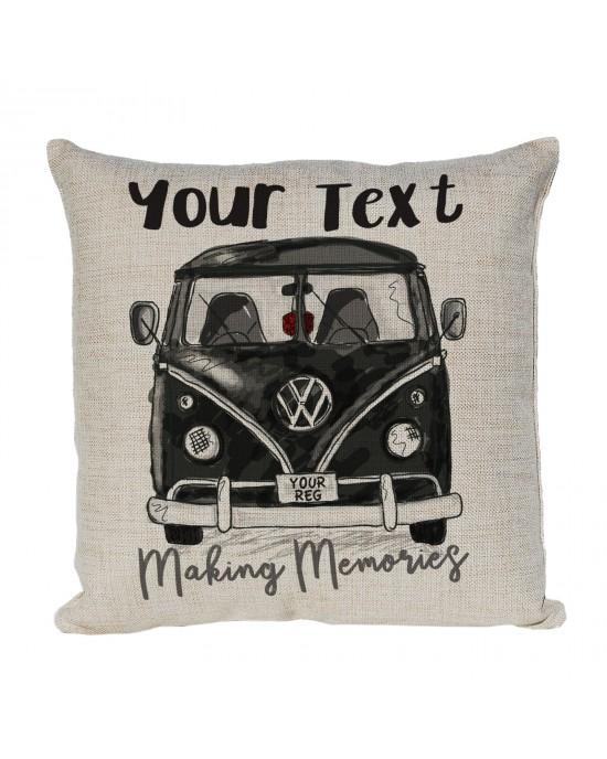 Personalised Linen cushion Personalised Camper Van Bus V-DUB